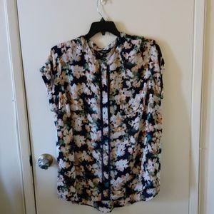 Simply Vera Vera Wang bright floral blouse